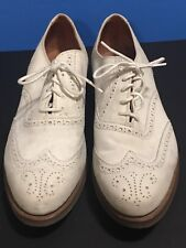 WALK OVER SHOES Beige SUEDE LEATHER MEN'S 10 OXFORD WINGTIP