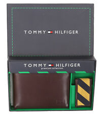 Tommy Hilfiger Men's Genuine Leather Wallet with Bill Metal Clip - $0 Free Ship