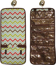 Hanging Travel Jewelry Roll (multi-color chevron) great for travel or home!