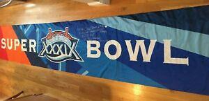 Deion Branch Signed & Inscribed Superbowl XXXIX Sideline Banner JSA Patriots