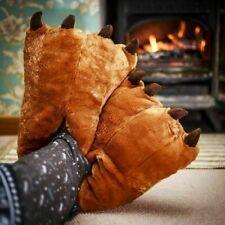 Tamaño Adulto Gigante Oso Pies Paws Zapatillas Novedad Plush 3D Calzado Uñas De