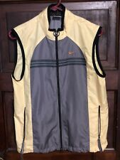 Men's Nike Yellow/Grey Corded Running Sleeveless Zipper Vest Medium (8-10) 56323