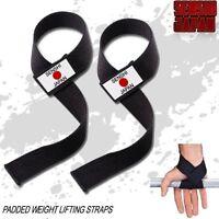 Weight Lifting Straps  Cotton Gym Straps Wrist Wraps Senshi Japan Weight Lifting