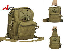 Outdoor Shoulder Backpack Molle Tactical Military Camping Hiking Travel Bag Tan