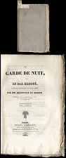 Melesville et Masson  Le Garde de Nuit, ou Le Bal Masque  Paris  1829