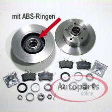 Audi A4 B5 Bremsscheiben mit abs Ringe Bremsbeläge 2 Stück Radlager für hinten*
