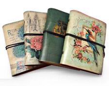 Vintage Bird Kraft Blank Diary Notebook Retro PU Leather Sketchbook Organiser