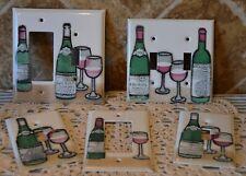 Nice Set Adrienne Blum Switch Plates/Covers~Wine Motif~Autographed~Enamel Art!