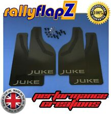 rallyflapZ NISSAN JUKE Facelift 2015+ Mud Flaps & Fixings -Black /Anthra 4mm PVC