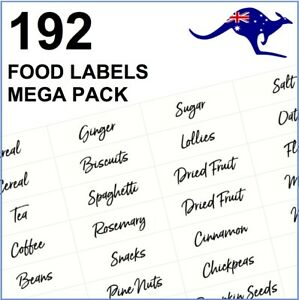 Pantry Labels - 192 Clear Pantry Food Storage Labels - Herbs & Spices + Baking