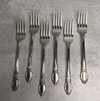 Wm A Rogers Oneida Ltd Park Lane Chatelaine Dowry Lot 6 Dinner Forks 1957