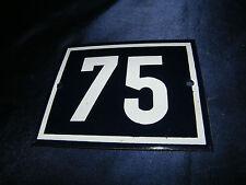 EMAILLE Nr. 75 12x10cm EMAIL HAUS SCHILD HAUSNUMMER PARZELLE SCHREBERGARTEN