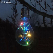 Christmas Solar Outdoor Camping Hanging LED Light Lamp Bulb Waterproof CC Multicolor