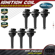 6pcs Ignition Coil Pack for Volvo S80 1999-2005 XC90 2.8L 2.9L 2003-2005 Turbo
