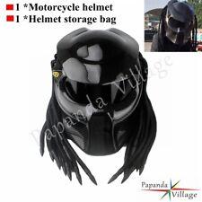 Carbon Fiber Predator Iron Man Full Face Motorcycle Helmet Black Visor S M L XL.