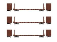 Athearn RTR 60' Bulkhead Flatcar Canadian National CN - 3-Car Bundle - HO