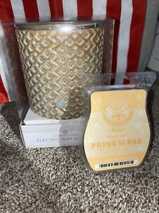 Colonial Candle Wax Warmer Brown Diamond Cer Geometric Scentsy Wax Bar Free