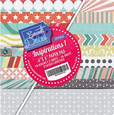 """Inspiraciones 1 dulce Dixie 6 X 6"""" papel scrapbooking 36 Hojas Colores Surtidos"""