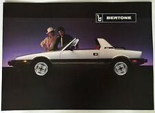 "MINT! 1984/1985 Bertone 4 Page Sales Brochure Large Format 10x14"" (Fiat X1/9)"