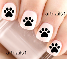 Paw Prints Cat Dog Pet Nail Art Water Decal Stickers Manicure Salon Polish Gift