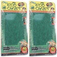 (2 Pack) Zoo Med Eco Carpet Reptile Terrarium Liner, 40 Gallon, Tan/Brown