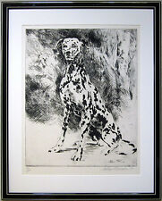 """LEROY NEIMAN Hand Signed 1980 Original Limited Edition Etching - """"Dalmatian"""""""