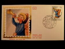 MONACO PREMIER JOUR FDC YVERT  1441      SANTON   ANGE     2,10F      1984