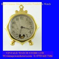 Reloj de bolsillo Raro 14k oro Keywind mercado chino visible Péndulo FOB 1880