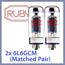 2x NEW Ruby 6L6GC-M-STR 6L6GC 6L6GCM-STR Vacuum Tubes, Matched Pair TESTED