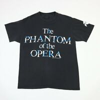 Vtg 80s Phantom of the Opera TShirt MEDIUM Faded Black Single Stitch Goth Grunge
