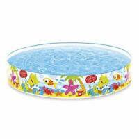 INTEX PISCINETTE Semi Rigide My Beach Day, 443 liters L, Multicolore, 152x152x25