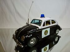 TIN TOYS MT MODERN TOYS JAPAN  VW VOLKSWAGEN BEETLE - POLICE  RARE - BATTERY