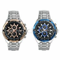 Men's Fashion Business Stainless Steel Band Decoration Analog Quartz Wrist Watch