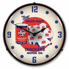 New Skelly Motor Oil Backlit Lighted Retro Advertising Clock - Free Shipping*