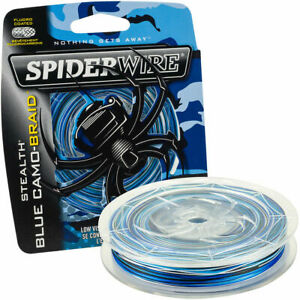 SpiderWire Stealth Braid 200 Yard Fishing Line - Blue Camo CHOOSE
