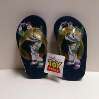 Toy Story Flip Flops boys Buzz Lightyear 7//8 9//10 Blue Stars NEW sandals