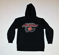 Calgary Flames NHL Hockey Hoodie Sweater Pullover Youth Size Small 7/8 NICE!
