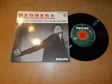 BARBARA - EP FRENCH PHILIPS 434957 - A MOURIR + 3  / LISTEN - CHANSON FRANCAISE