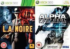 l.a. noire LA NOIRE & alpha protocol    Xbox 360  PAL NEW&SEALED
