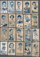 1949 Carreras Turf Cigarettes Sports Series Tobacco Cards Lot of 26