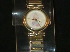 VTG LADY/GIRL VALDAWN GOLD-TONE WATCH W/SMALL BABY ON THE WHITE FACE CUTE!! P036