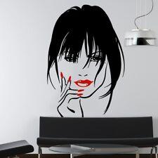 Girl Cosmetic Makeup Wall Decal Sticker Store Decor Hair Beauty Salon Wallpaper
