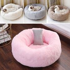 Warm Fluffy Pet Bed Puppy/Kitten Cuddler Donut Fur Pillow With Mat Cushion