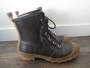Hunter Brown Woman's Brixen Ankle Rubber Rain Boots SIze 7