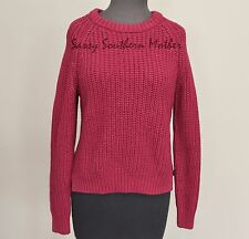 New Made Fashion Week Long Sleeve Shaker Knit Sweater Small S Burgundy red NWT