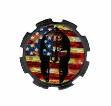 Molon Labe Spartan USA Flag Tactical Milspec Hook Patch