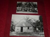 [PHOTOGRAPHIES POLYNESIE] Fête TAHITI en 1868 & Habitation aux TUAMOTU Coll. MH