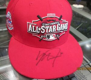 MIKE TROUT SIGNED ALL STAR HAT  100% authentic ANGELS