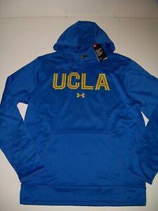 UCLA Bruins Under Armour Men's Pullover sweatshirt Armour Fleece Hoodie L Blue