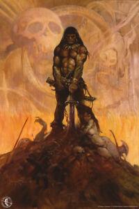 Barbarian by Frank Frazetta Art Print Poster 12x18 inch